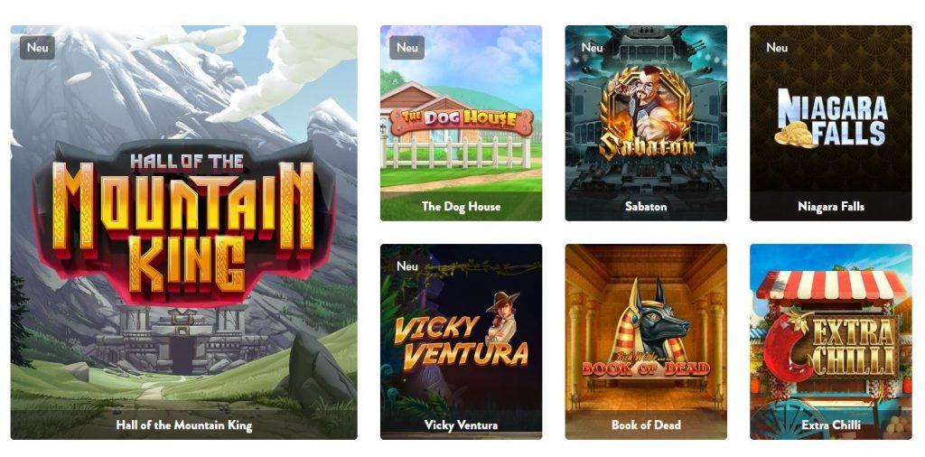Dunder Casino Spiele