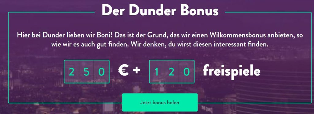 Dunder Casino Angebote