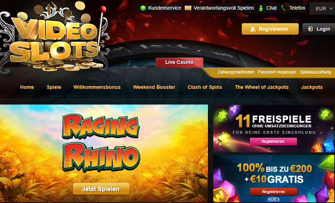Videoslots Casino Startseite