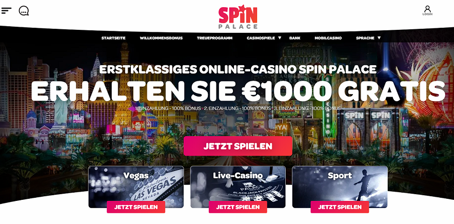 Spin Palace erster Eindruck