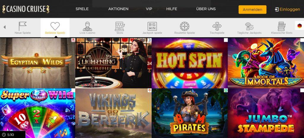 Casino Cruise Spielvorschau